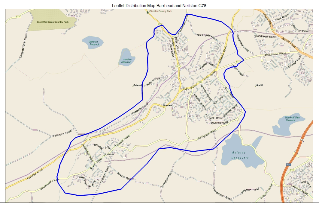 leaflet distribution map barrhead and Neilston G78