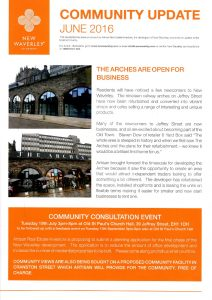 Commmunity Update for th =e New Waverly Development in Edinburgh