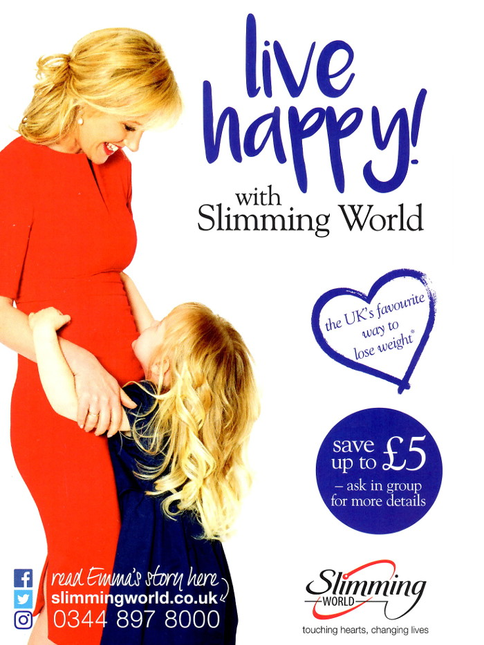 Leaflets distributed for slimming world in glasgow elderslie professional leaflet Slimming world app for members
