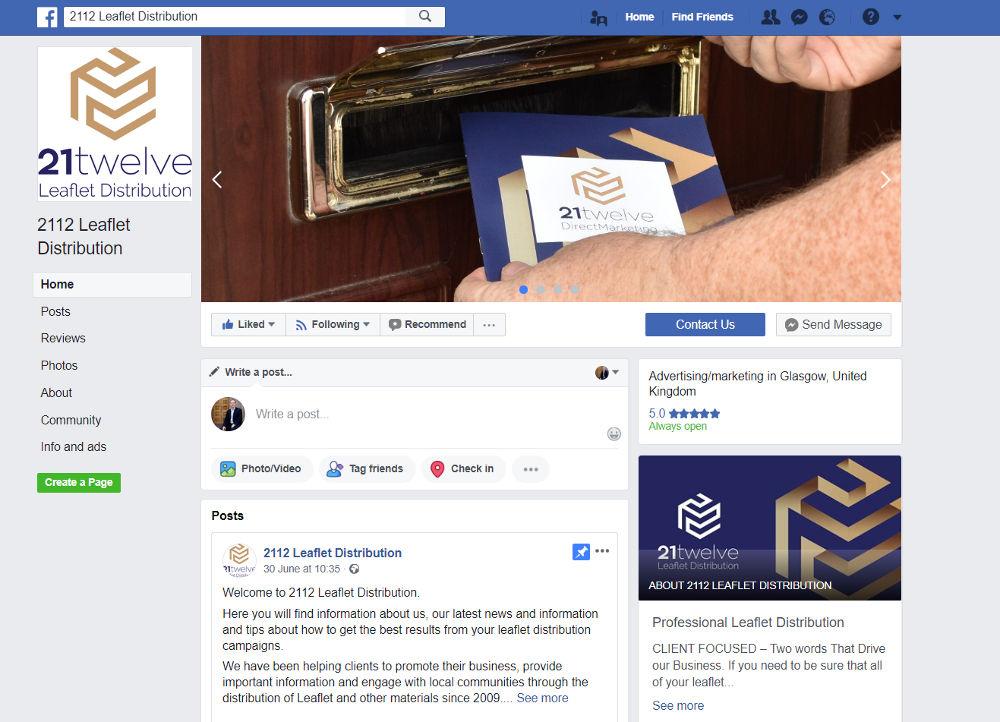 2112 Leaflet Distribution Facebook Page link