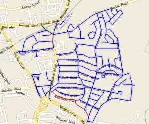 Completed Leaflet Distribution Map