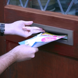 leaflet distrbution through letterbox