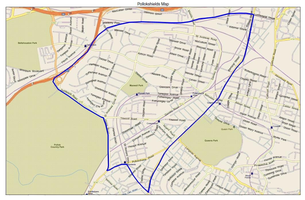 leaflet distribution area map pollokshields