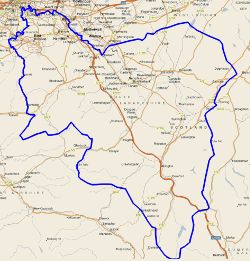Leaflet Distribution Area map of South Lanarkshire