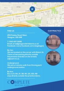 Reverse side of CDC Glasgow Leaflet