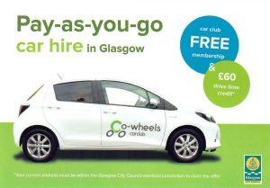 Co-Wheels Car Club Leaflet Distribution Glasgow