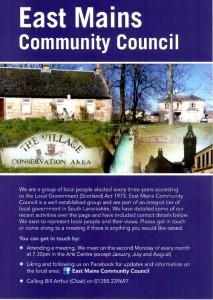 East Mains Community Council East Kilbride Leaflet