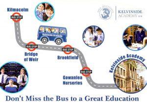 Back of Kelvinside Academy Leaflet