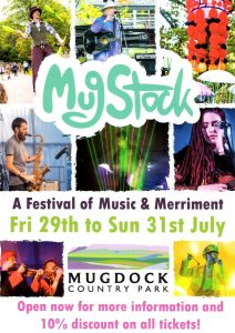 Front of the MugStock Festival Leaflet