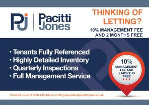 Back of Pacitti Jones Leaflet Promoting Letting Services