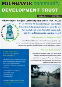 Newsletter distributed for Milngavie Community Development