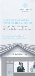 Clyde Dental Baillieston Leaflet Front