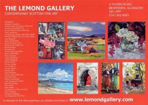Reverse side of Lemond Gallery leaflet