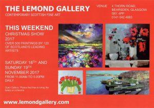 Front of Lemond Art Gallery leaflet distributed in Bearsden