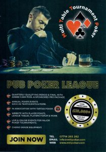 Pub Poker League Leaflet Distributed in Saltcoats