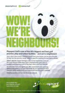 Front side of Golf East Kilbride Leaflet