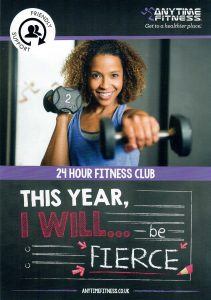 Front of AnyTime Fitness StEnoch Glasgow Leaflet