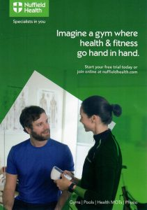 Front side of Nuffielf Health Leaflet