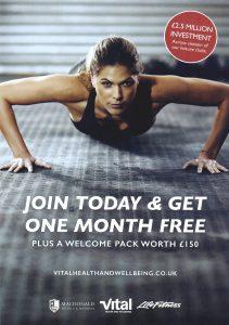 Front side of Vital Health January 2018 Leaflet