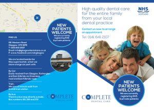 Outside of Complete Dental Care Leaflet