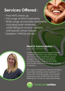 Front of Cardonal Smiles Dentist Leaflet