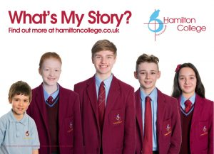 "Hamilton College ""What's my Story"" leaflet"