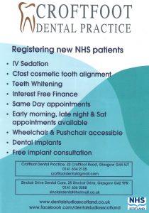 Leaflet Distributed for Croftfoot Dental