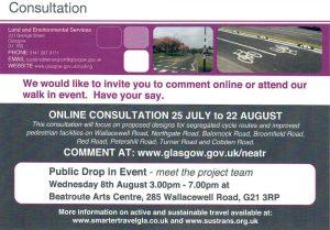 Glasgow Transport Consultation Leaflet
