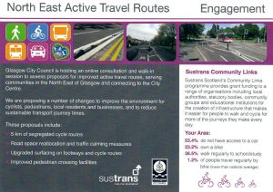 Glasgow North East Travel Routes Leaflet