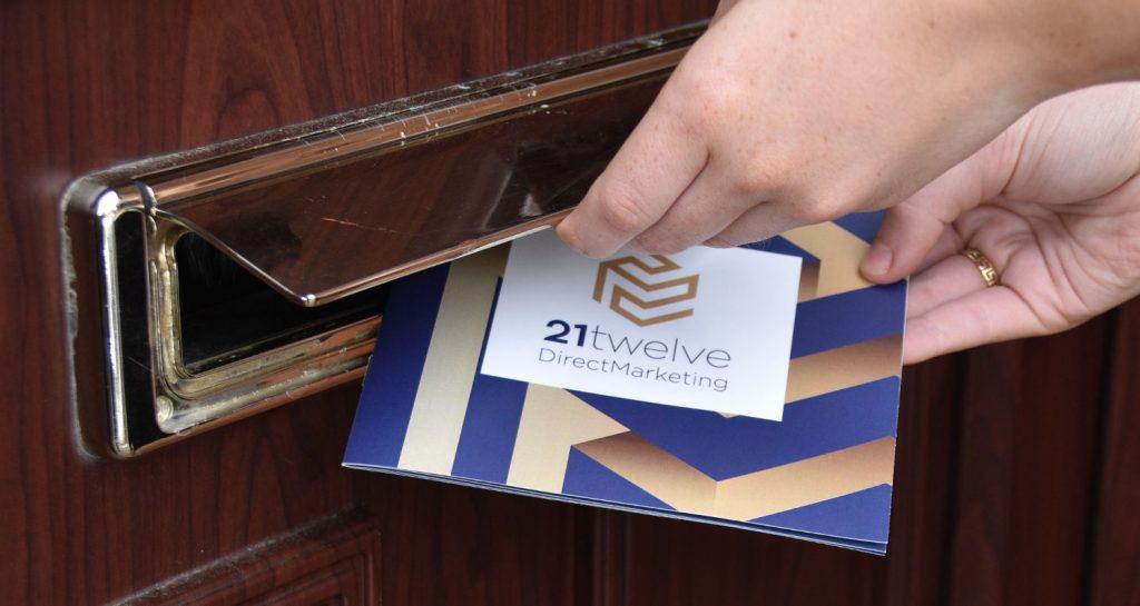 Delivering a leaflet through a letterbox